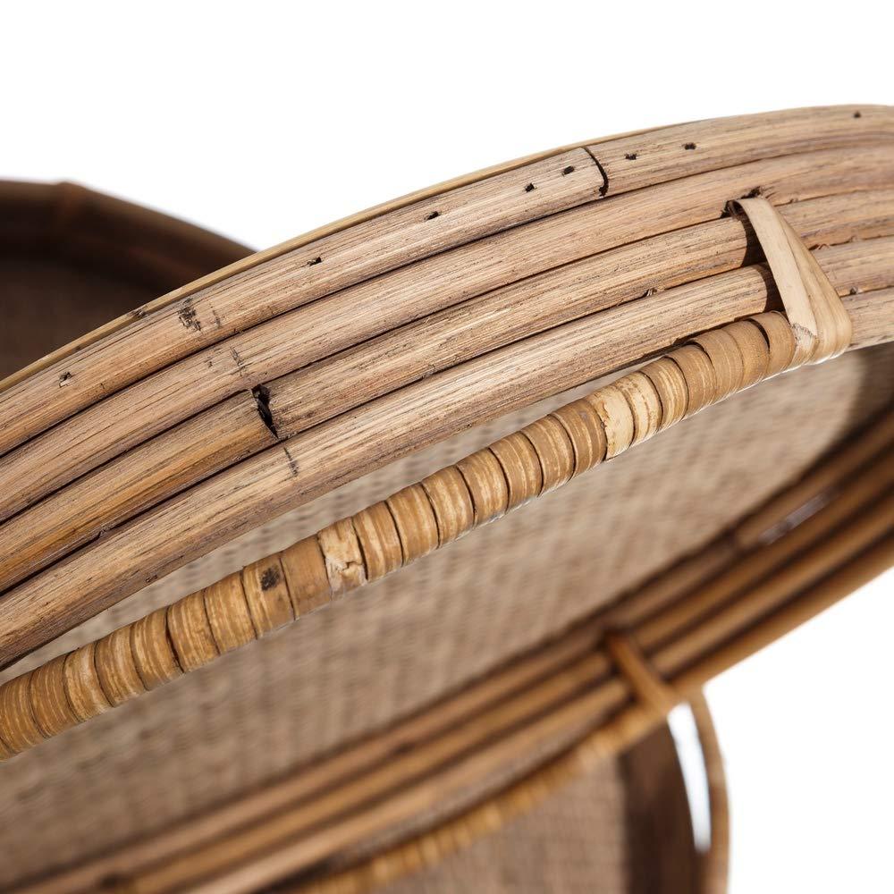 Bandejas Redondas de bambú Natural Marrones rústicas para Comedor Sol Naciente - LOLAhome: Amazon.es: Hogar