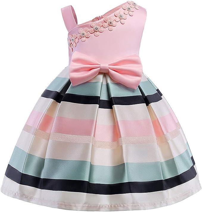 Vestiti Eleganti Bimba 3 Anni.Mbby Vestito Bambina Fiori Ricamo 3 8 Anni Vestiti Di Cerimonia