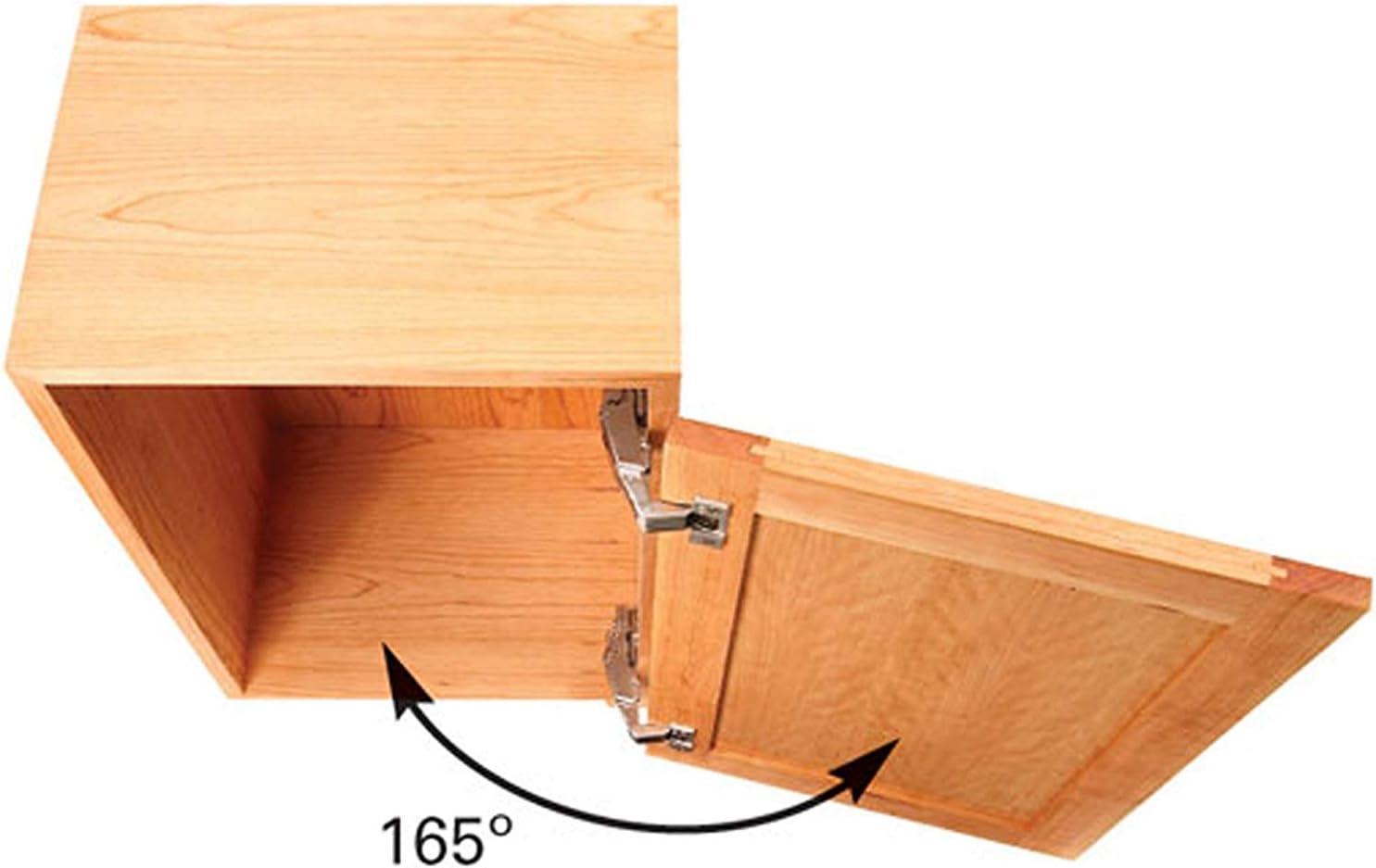 muebles plegables Bisagra de 165 grados de cierre suave para armarios de cocina combinaci/ón oculta superposici/ón completa bisagra de puerta Warerobe de 35 mm