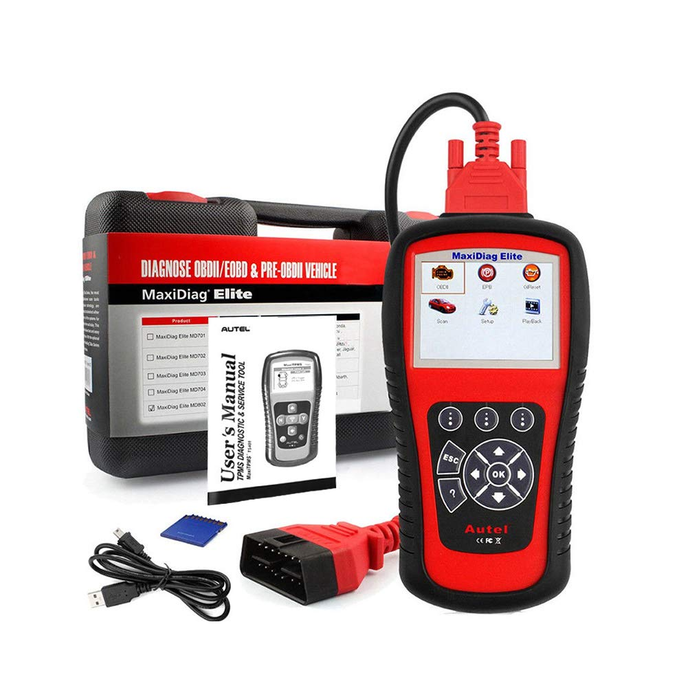 Autel Professional Scan Tool MaxiDiag Elite MD802, OBD2 Car Code Reader for All Systems, Car Diagnostic Scanner for All Electronic Modules (Engine, Transmission, ABS, Airbag), EPB, Oil Service by Autel (Image #7)