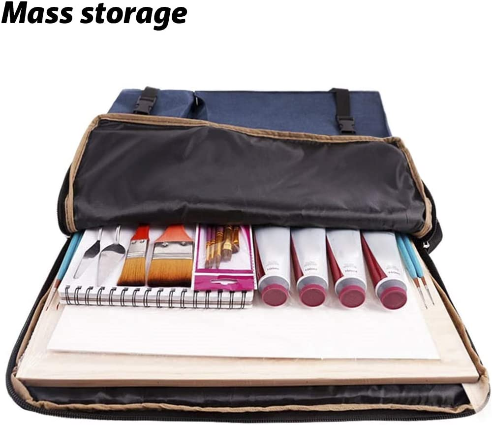 Artists Carry Bag Art Student Drawing Board Sketch Pad Storage Bag Portable Multifunctional Field Waterproof Durable Portfolio Backpack Sketching Painting Art Supplies Organizer Case