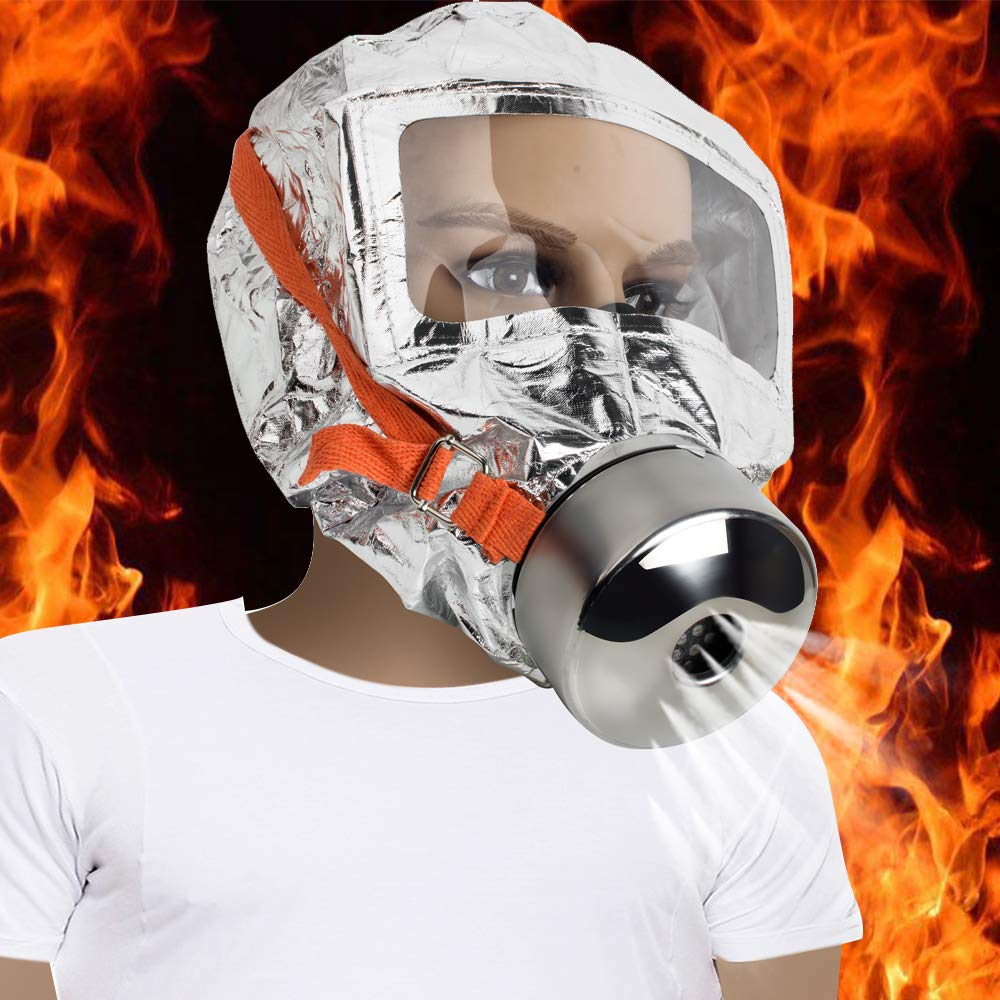 30 minutes Fire Escape Mask Forced 3C Certification Fire Respirator Gas Mask Emergency Escape Respirator Mask, Safety&Protective Mask Against Smoke, Carbon Monoxide and Toxic Fumes