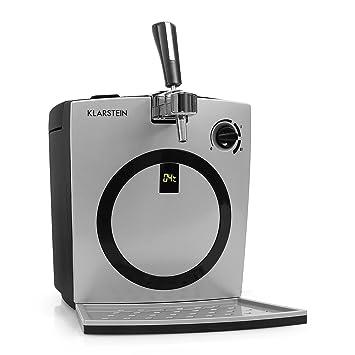 Klarstein Hopfenthal dispensador de cerveza (con refrigeración activa silenciosa, 5 litros, sistema de bombeo, pantalla LED, indicador temperatura, ...