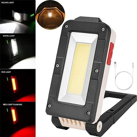 Garage Arbeitsleuchte LED Akku Arbeitslampe Werkstattlampe Arbeitslicht Taschenlampe COB Inspektionsleuchten Campinglampe mit Magnet f/ür Auto Reparatur Werkstatt Camping Notbeleuchtung dimmbar