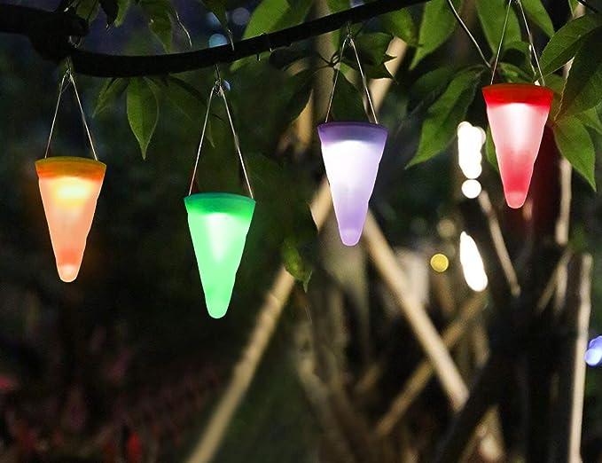 4 luces solares para jardín, luces LED que cambian de color para decoración de jardín: Amazon.es: Iluminación