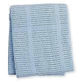 lulujo Baby Cellular Baby Blanket, Blue