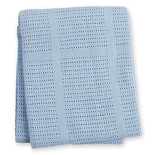 lulujo Baby Cellular Blanket Blue