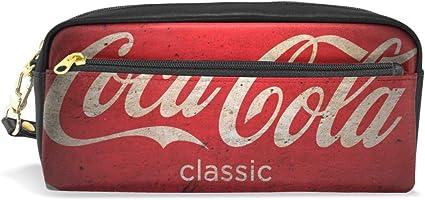 Estuche para lápices de gran capacidad con cremallera doble duradera para la oficina escolar, estuche para lápices de cosméticos, de Coca-Cola: Amazon.es: Oficina y papelería
