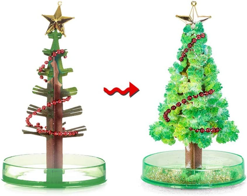 Sauahy 2PC Paper Trees DIY Magic Growing Christmas Tree Funny & Educational Toys Xmas Novelty Gifts for Boys and Girls