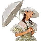paraguas blanco con volantes accesorios sombrilla