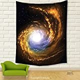 Vipsung House Decor Tapestry_Galaxy Nebula Cloud With Cosmic Rays Galactic Exploring Celestial Bodies Space Art Decor Orange Black_Wall Hanging For Bedroom Living Room Dorm