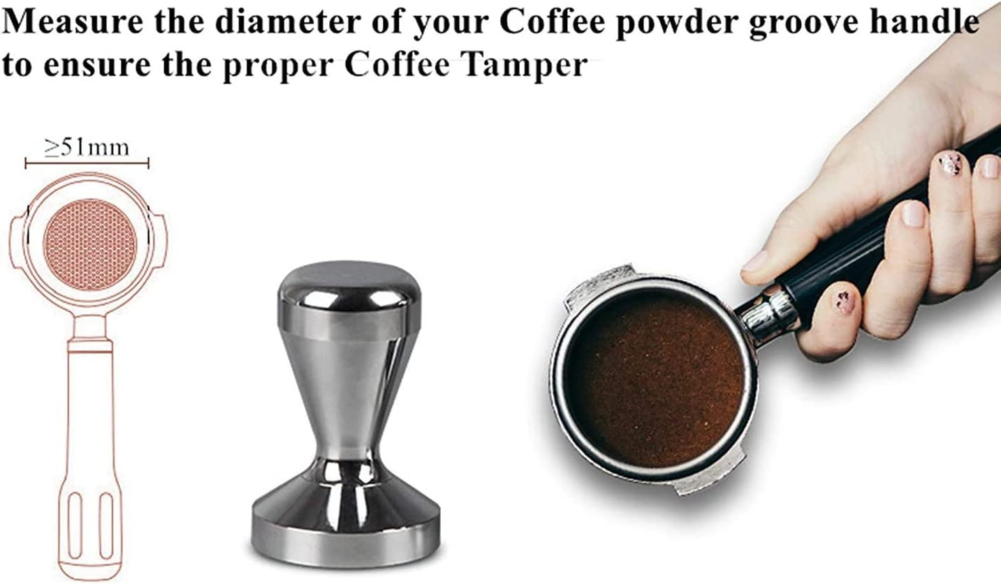 Espresso Tamper 51mm Coffee Tamper Stainless Steel Espresso Coffee Powder Espresso Coffee Press Tamper