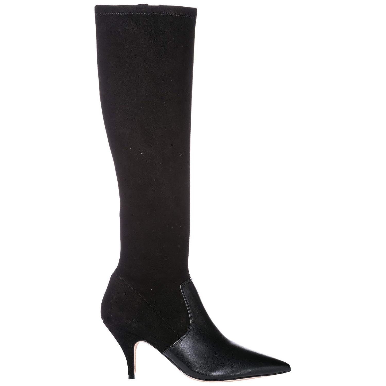 Tory Burch Damen Lederstiefel mit Absatz Stiefel Stiefel Georgina Schwarz