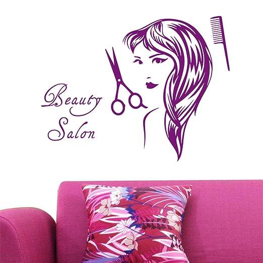 lyclff Salon Sticker Beauty Decal Hair Peluquería Chica Posters ...