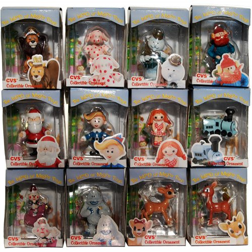 Amazon.com: Rudolph Island of Misfit Toys Complete 1999 Ornament Set ...