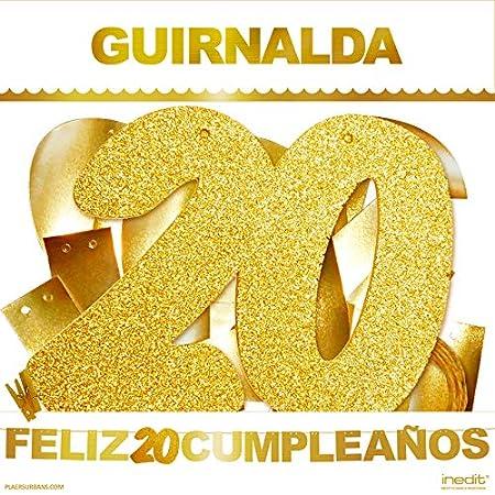 inedit Festa - Guirnalda Feliz 20 Cumpleaños - 20 Años ...