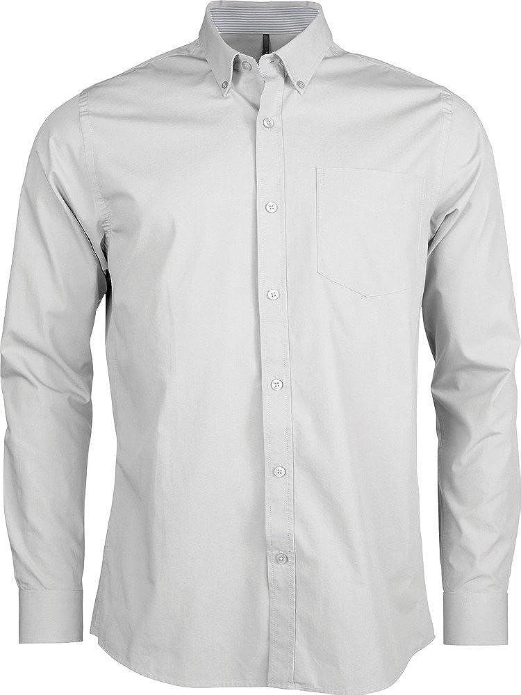 Kariban K517-Camisa de manga larga para hombre tejido de popelín lavada blanco large: Amazon.es: Ropa y accesorios