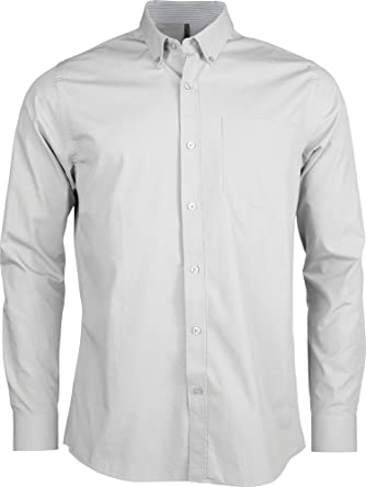 KARIBAN k517 – Camisa popelina lavable manga larga Weiß ...