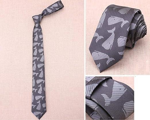 Littlefairy Hombre Designer Corbata,5 cm Estrecho versión de ...