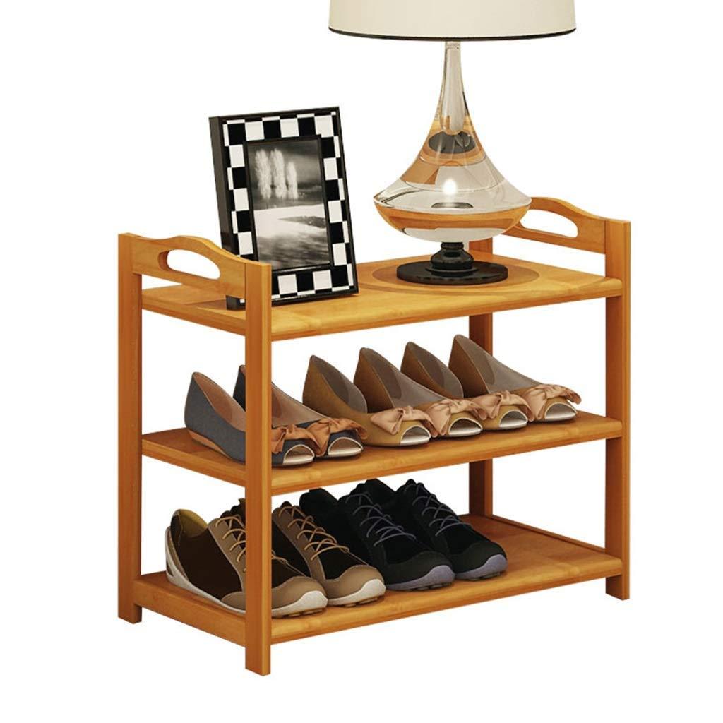 Shangxiangtrade シンプルな竹の靴ラックリビングルームホームマルチ層の靴のラック無垢材の靴ラックアセンブリ靴ラック - 棚の靴 (サイズ : 51*26*68CM) B07TG2T2ZH  51*26*68CM