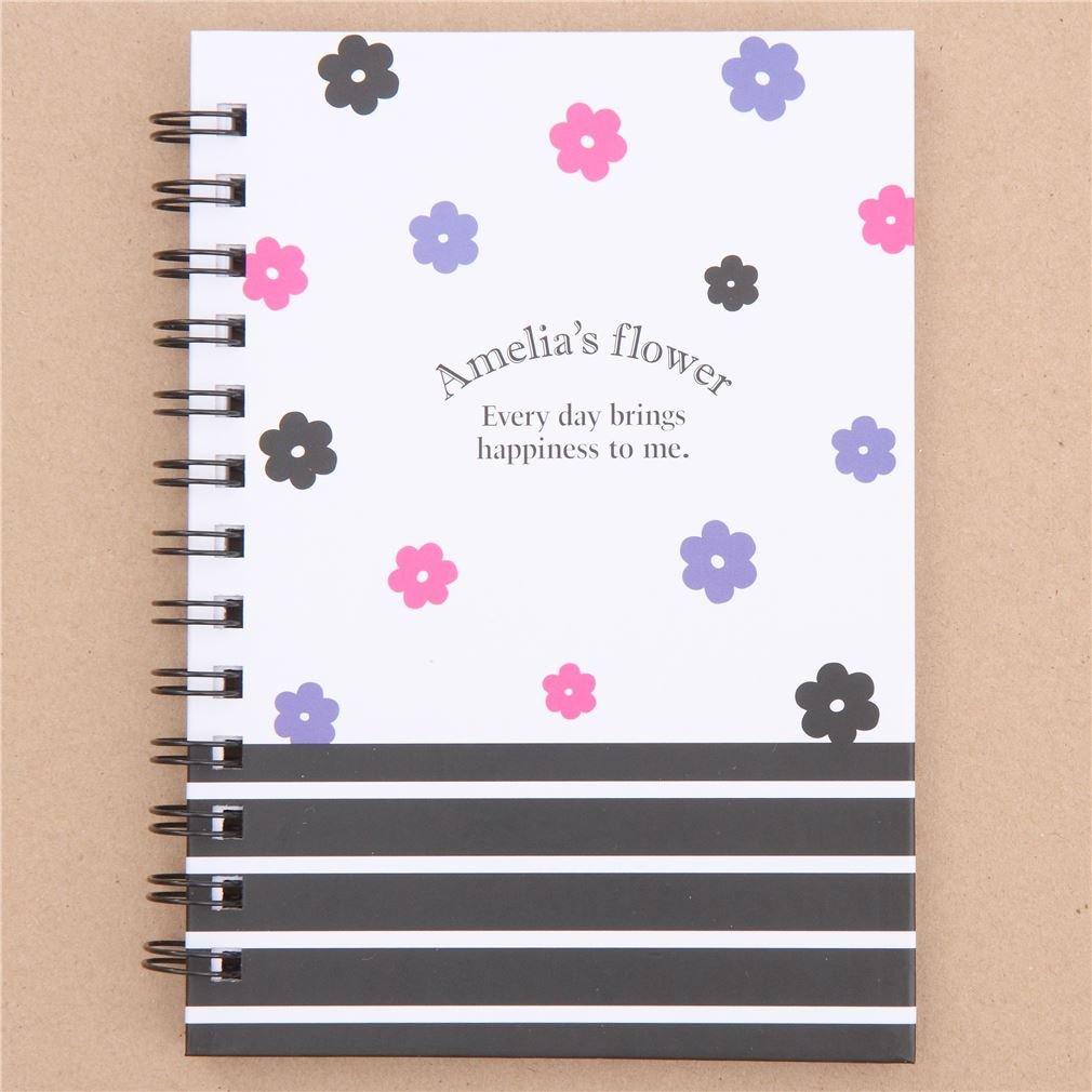 Kamio Süßes Notizbuch mit Blumen aus Japan