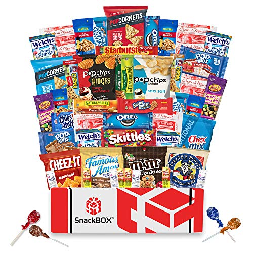 Care Package for College Students, Military, Father's Day, Finals or Back to School (50 Count) From Snack Box ...]()