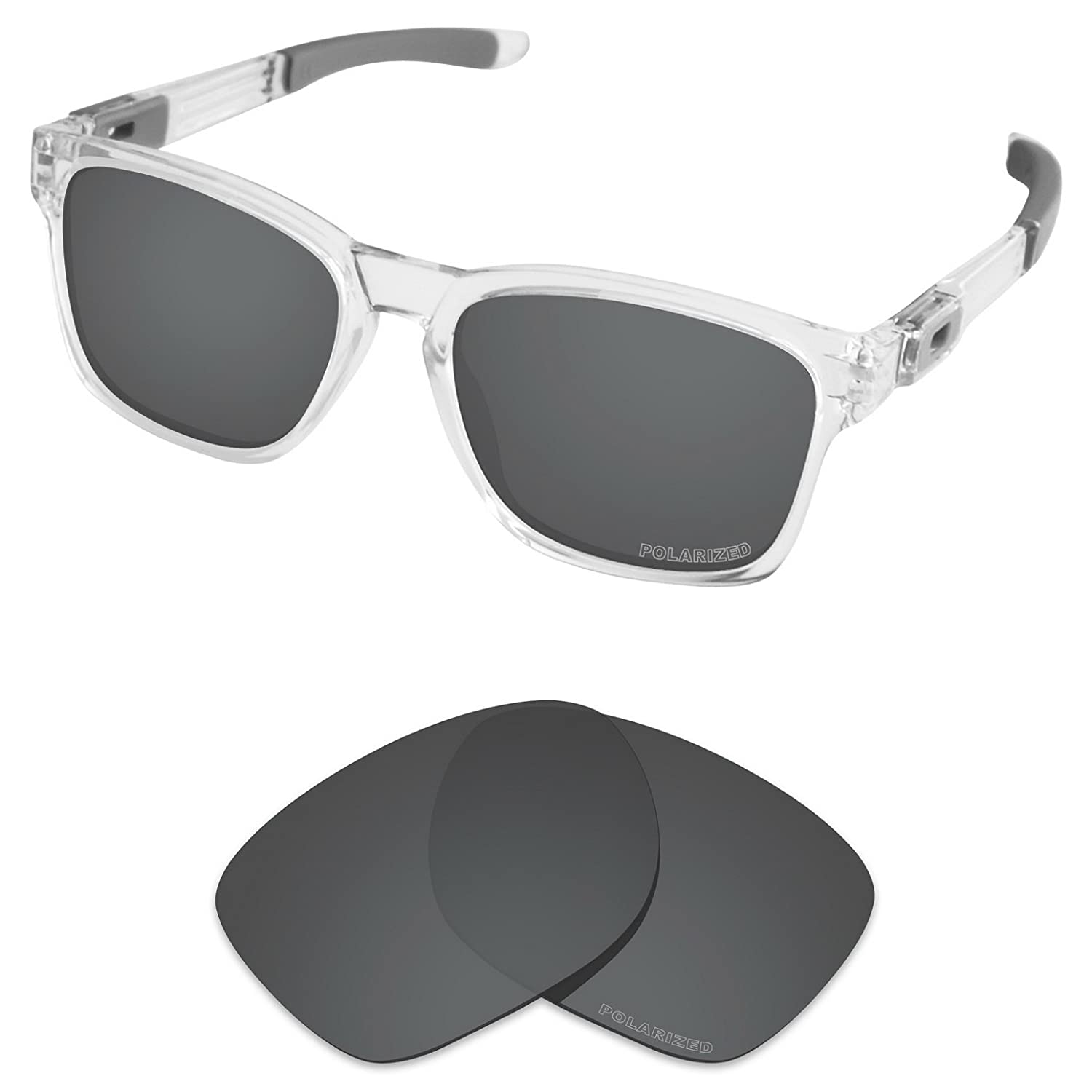 3d963e6fb4e Amazon.com  Tintart Performance Lenses Compatible with Oakley Catalyst  Polarized Etched-Carbon Black  Clothing
