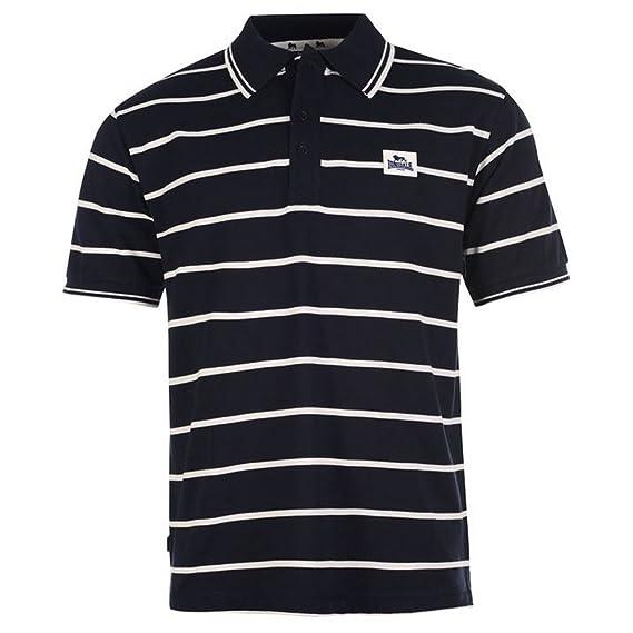 Lonsdale - Polo - para Hombre Azul Marino/Blanco S: Amazon.es ...