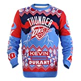 KLEW NBA Oklahoma City Thunder Kevin Durant #35 Ugly Sweater, X-Large, Orange