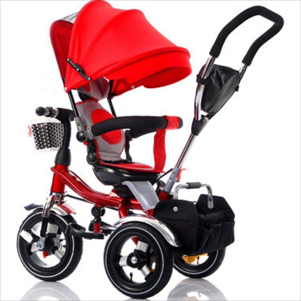 子供の屋内屋外の小さな三輪車自転車の男の子の自転車の自転車6ヶ月-5歳の赤ちゃん三輪車の天井、インフレータブルホイール/回転座席 (色 : 2) B07DV6CJW7 2 2