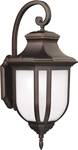 Seagull Sea Gull 8636301EN3-71 Transitional One Light Outdoor Wall Lantern from Childress Collection Dark Finish