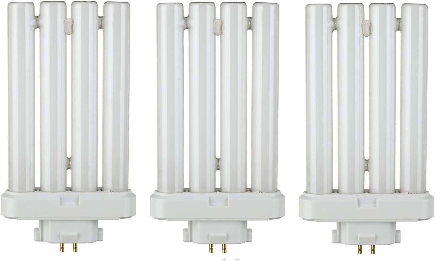 Ciata Lighting Fml27 65 27 Quad Tube Compact Fluorescent Light Bulb 3 Pack Amazon Com