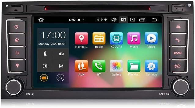 ERISIN 7 Pulgadas Android 10.0 Estéreo de Automóvil para VW Touareg T5 Multivan Soporte GPS Sat Nav Carplay Android Auto DSP Bluetooth WiFi Dab + TPMS ...