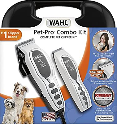 Wahl Pet-Pro Clipper & Trimmer Pet Grooming Combo Kit for Dogs and Cats: Comes with a corded Clipper and a battery operated Trimmer, by The Brand Used By Professionals. #9284 from Wahl Clipper Corp.