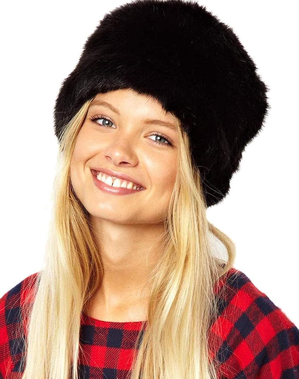 DreamyDesign Fellmü tze Pelzmü tze Damen Faux Fuchs Pelz Warm russischen Hut in Einer Auswahl von Farbenmü tze Wintermü tze
