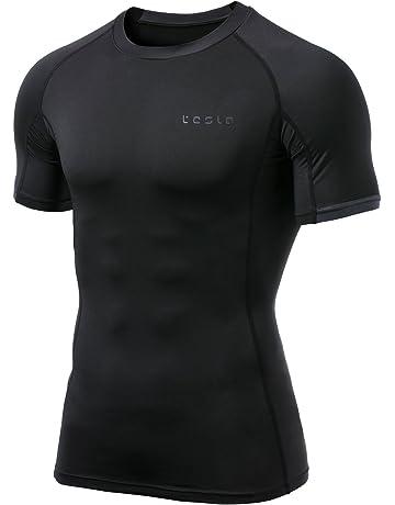 df2ee5d2b805f TSLA Mens Cool Dry Compression Baselayer Short Sleeve T Shirts MUB13 MUB23