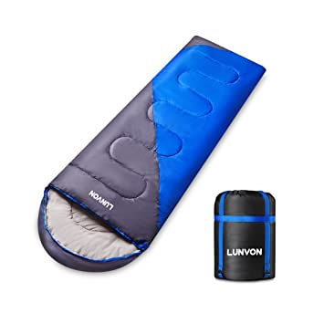 Lunvon (190+30 X75CM-Saco de Dormir Momia Una Persona Ligero con Bolsa de Compresión Al Aire Libre Camping Excursiones: Amazon.es: Deportes y aire libre