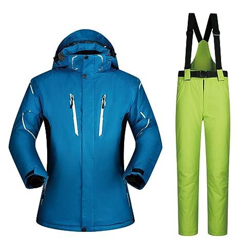 Traje de esquiar Hombres abrigo chaqueta de esquí pantalones ...