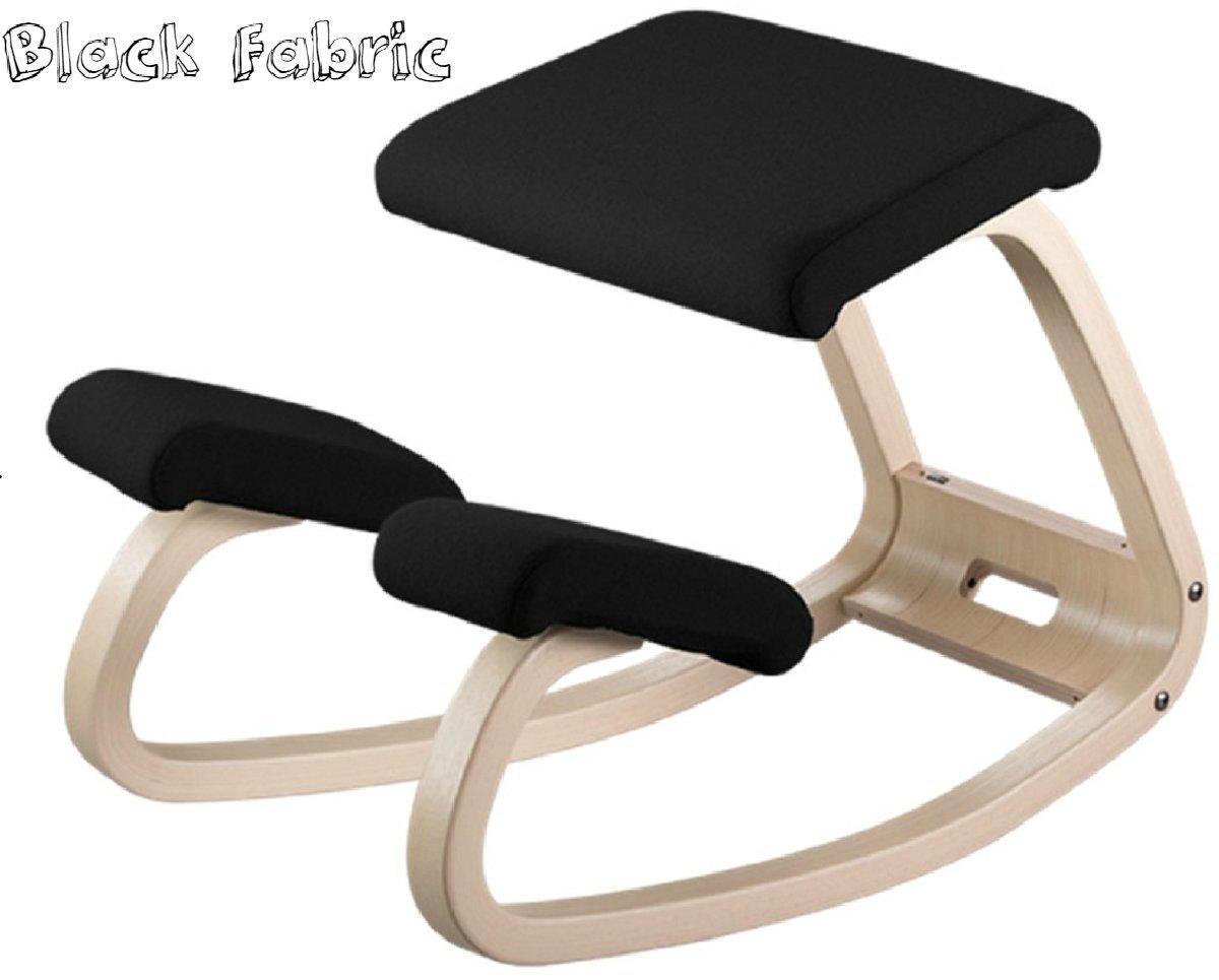 Fit Caffeine Black Kids Ergonomic Adjustable Kneeling Chair