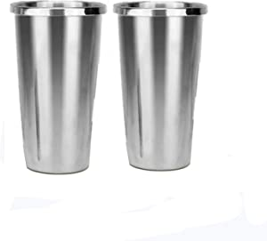 Stainless Steel Cups 2PCS for Electric Milkshake Maker Mixer