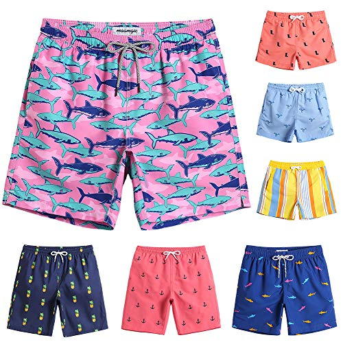 MaaMgic Boys Cute Shark Swim Trunks 14T 16T Toddler Swim Shorts Little Boys Bathing Suit Swimsuit Toddler Boy Swimwear -