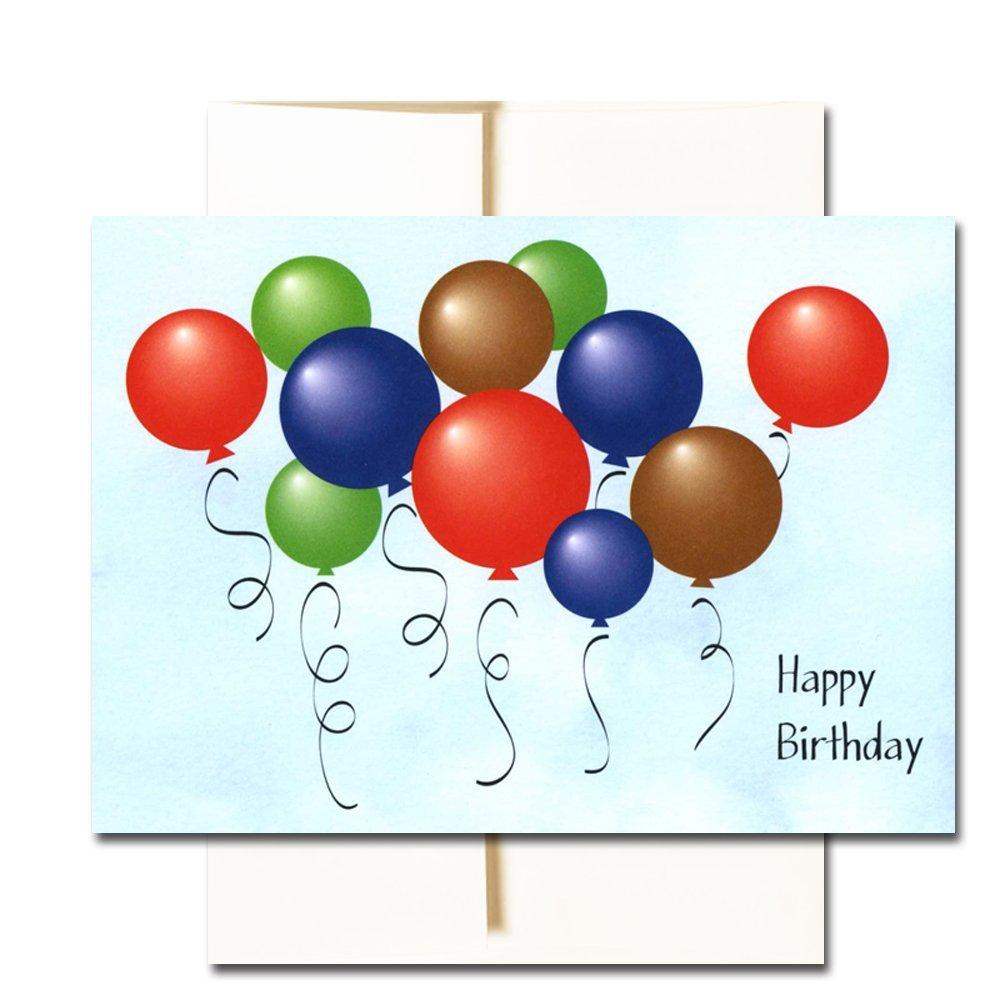 Amazon Com Happy Birthday Cards Assortment 6 Colorful Designs