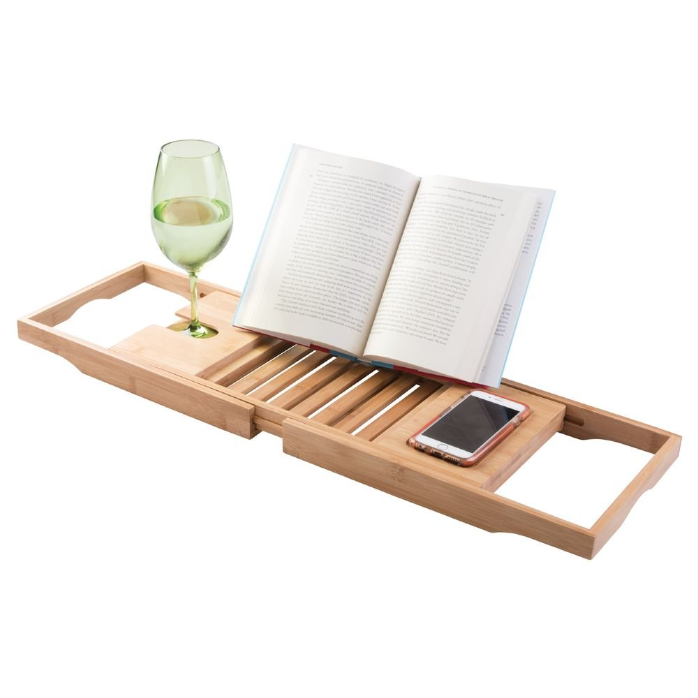 luxurious rack tray tools amazon book premium and wooden bamboo bath wine dp co uk holder caddy bathtub diy rest