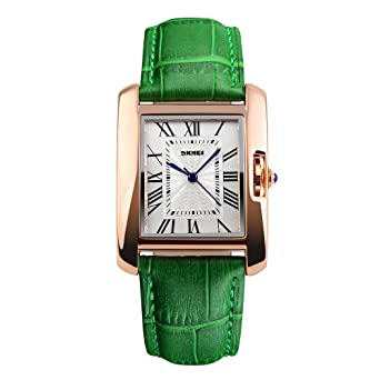 Fashion Watches For Women Waterproof,Skmei Ladies Wristwatches,Vogue Leather Strap Rose Gold Case