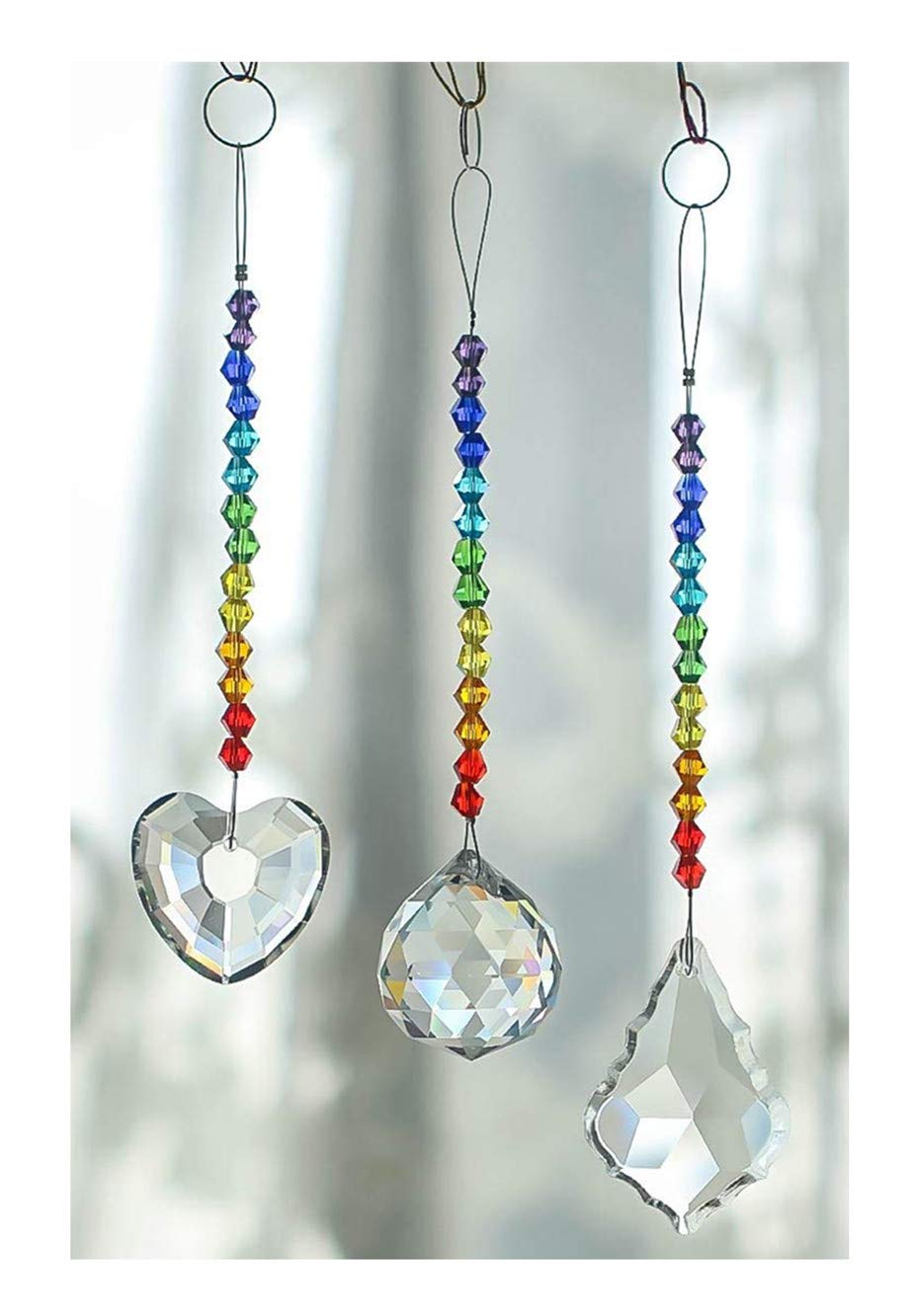 Amazon.com : H&D Chandelier Crystals Prisms Rainbow Chakra ...