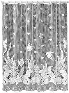product image for Heritage Lace Seascape 72-Inch by 72-Inch Shower Curtain, White