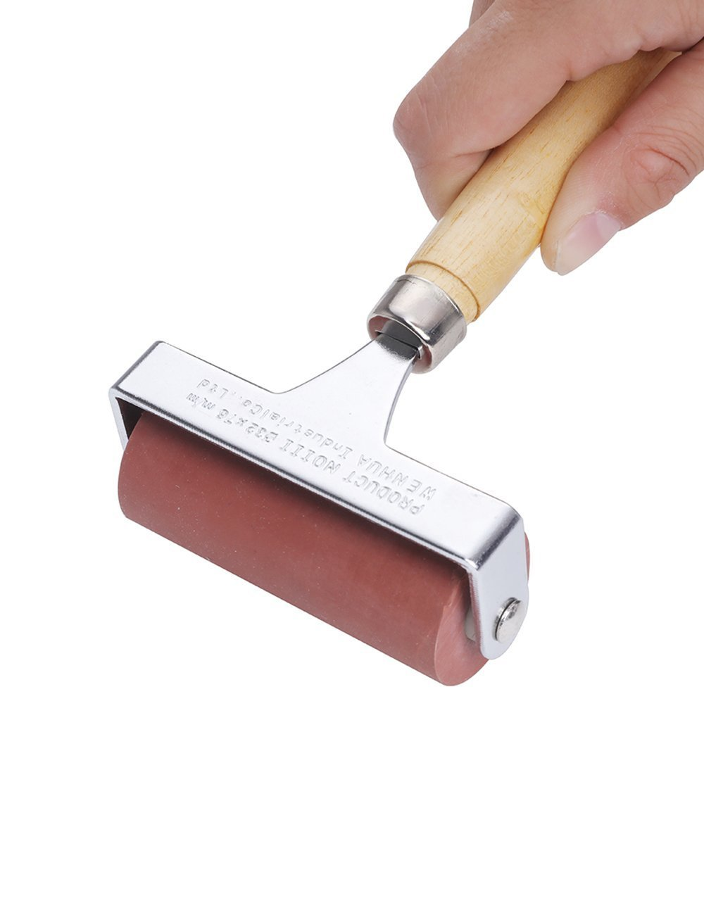 MEEDEN Hard Rubber Brayer Roller 4-inch for Printmaking Craft Projects