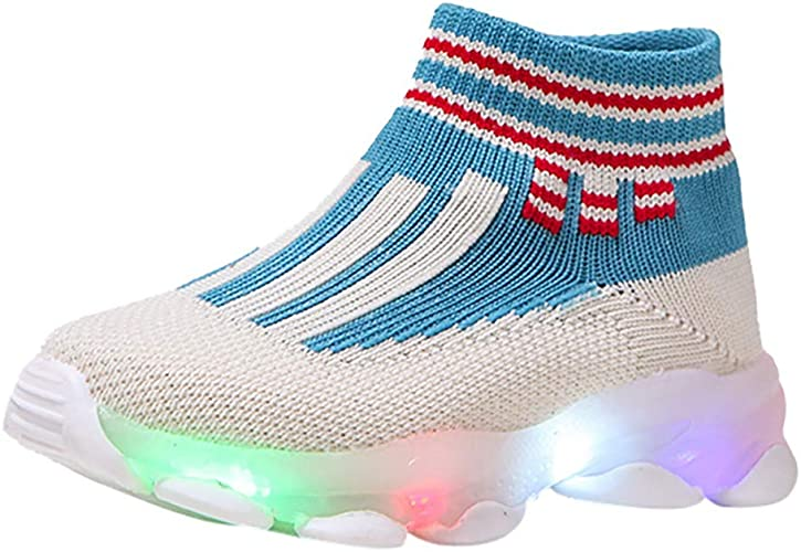 Unisex Light Up LED Shoes For Baby Toddler Kids Casual Athletics Sports Sneakers