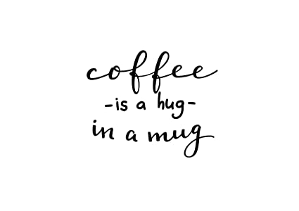 Amazon.com: Diuangfoong Coffee Kitchen Wall Quote Java ...