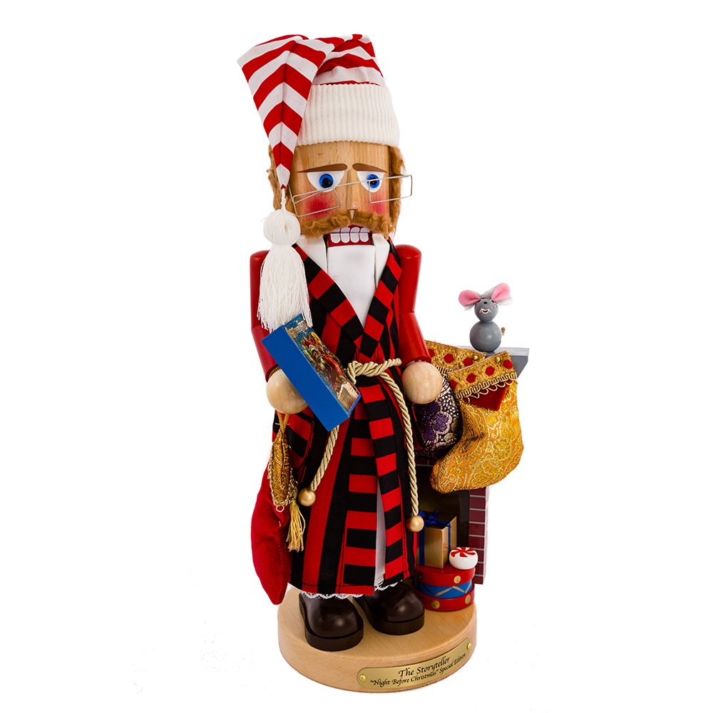 Kurt Adler Steinbach Night Before Christmas Storyteller Nutcracker, 18-Inch